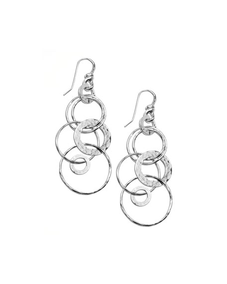 Ippolita Silver Multi-Link Jet-Set Earrings