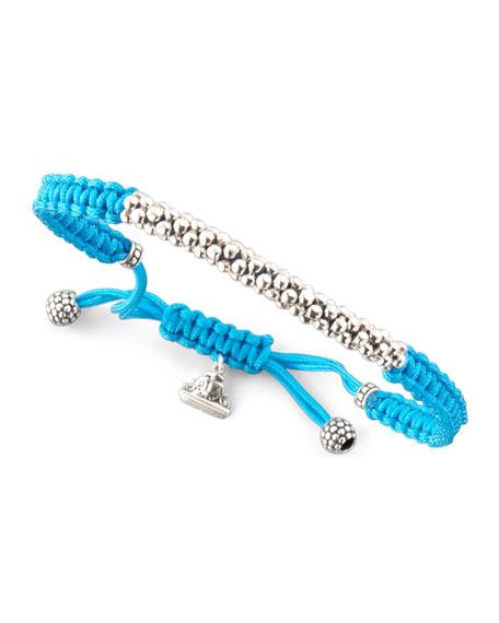 Macrame Caviar Bracelet, Turquoise