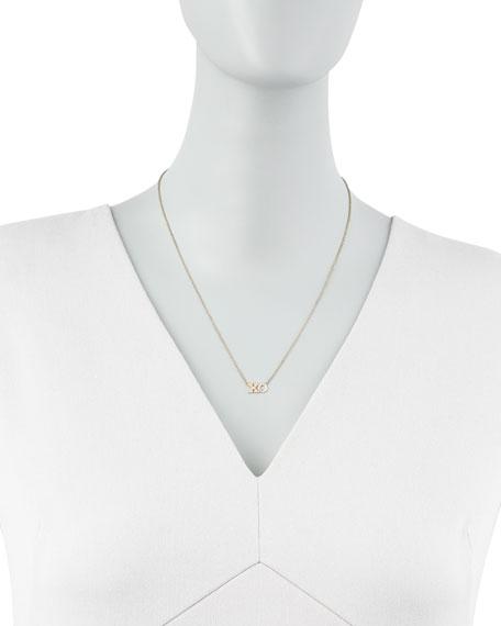 Pave Diamond XO Pendant Necklace