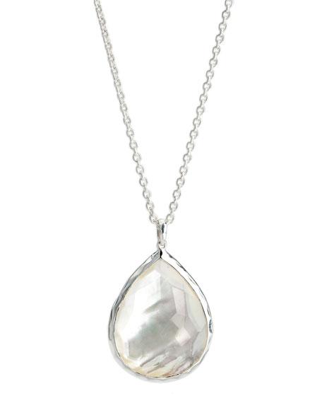 Ippolita Silver Teardrop Pendant Necklace zS95Ed