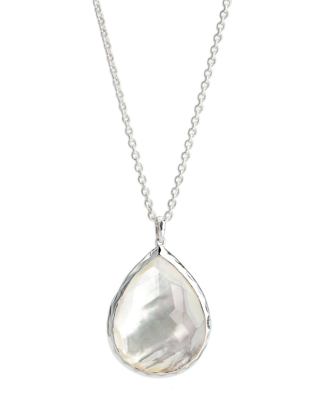 Ippolita sterling silver teardrop pendant necklace mother of pearl sterling silver teardrop pendant necklace mother of pearl aloadofball Image collections