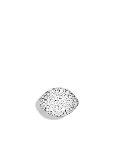 Pavé Pinky Ring with Diamonds in White Gold