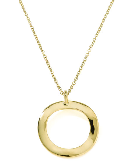 Ippolita Mini Wavy Circle Pendant Necklace