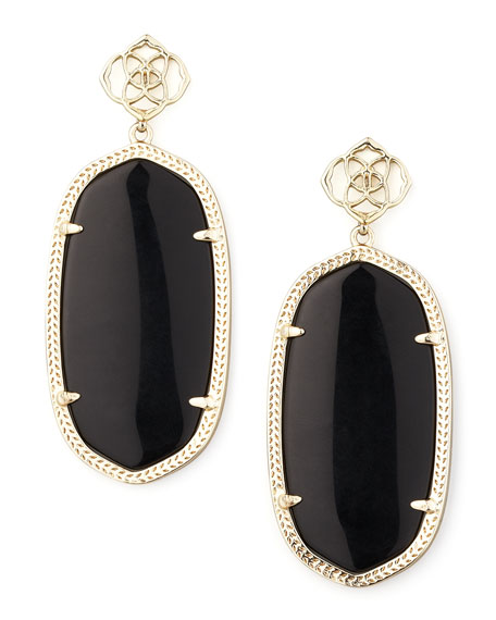 Davey Earrings, Black