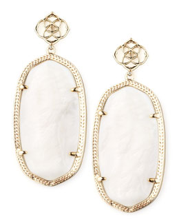 Kendra Scott Davey Earrings, Mother-of-Pearl