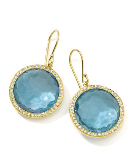 Rock Candy Blue Topaz Drop Earrings