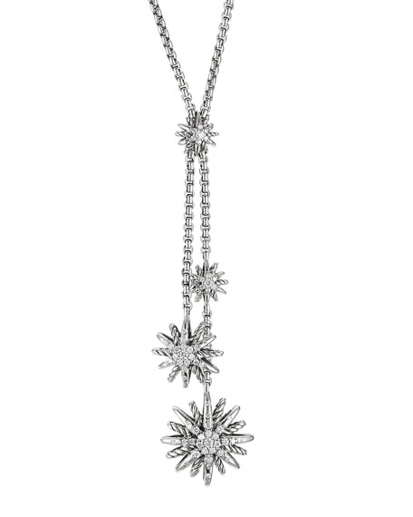 Starburst Y Necklace, Diamonds