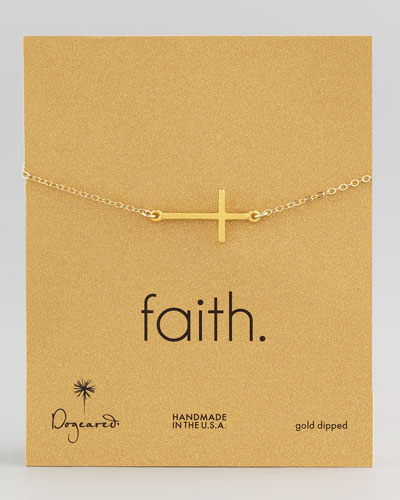 Gold-Dipped Integrated Large Cross Bracelet
