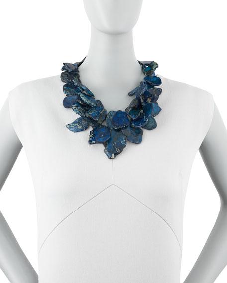 Clustered Blue Jasper Necklace