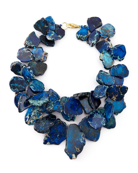 Clustered Blue Jasper Necklace