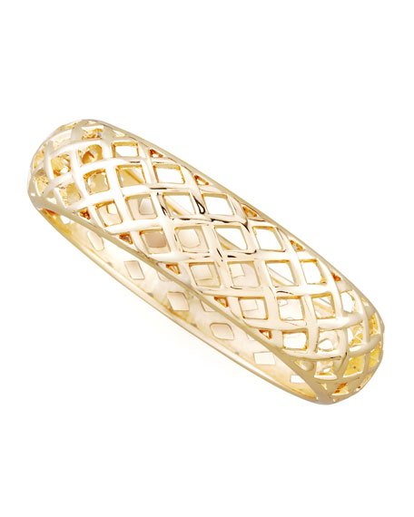 Golden Basketweave Bangle
