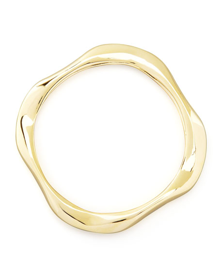 Square Gold-Plated Bangle