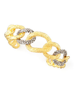 Alexis Bittar Cordova Antiqued Chain Cuff, Golden