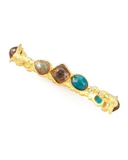 Alexis Bittar Cordova Bangle, Smoky Quartz