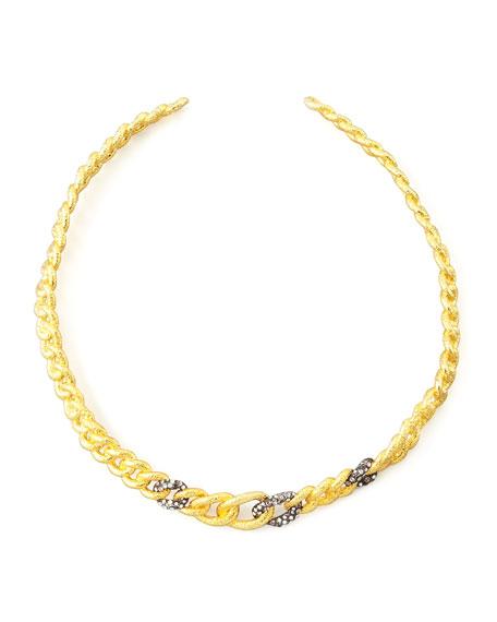 Cordova Antiqued Collar Necklace, Golden