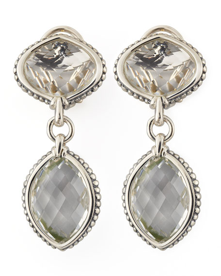 Venus Drop Earrings, Rock Crystal
