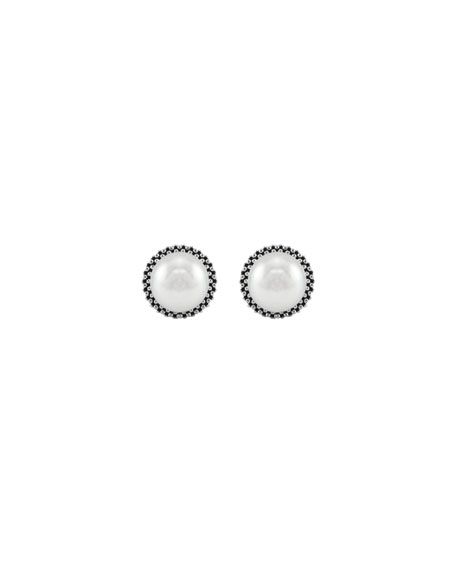 8.5mm Pearl Caviar Earrings