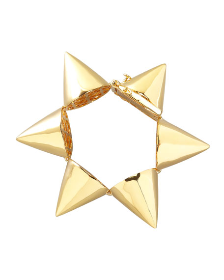 Extra-Large Cone Bracelet, Yellow Gold