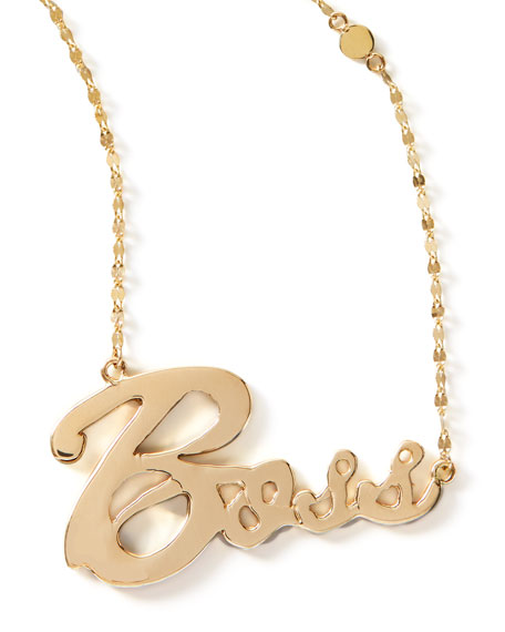Boss Gold Pendant Signature Necklace