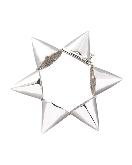 Extra-Large Cone Bracelet, Silver