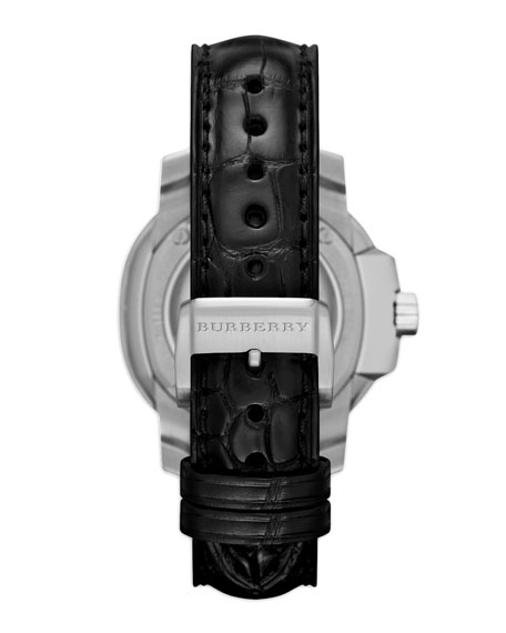 Automatic Movement Watch with Alligator Strap