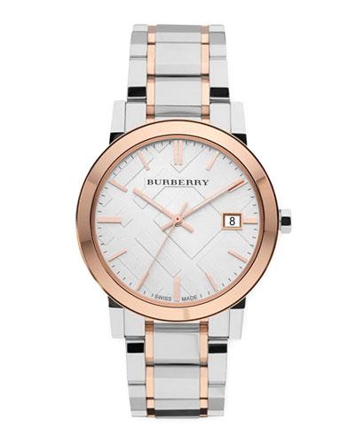 Rose Golden Check Watch