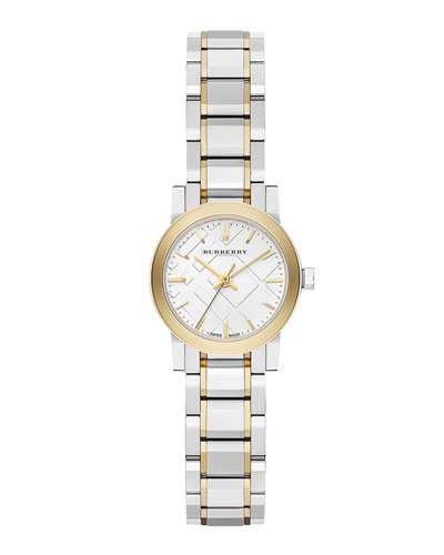 Round Yellow Golden Stainless Steel Watch, 26mm