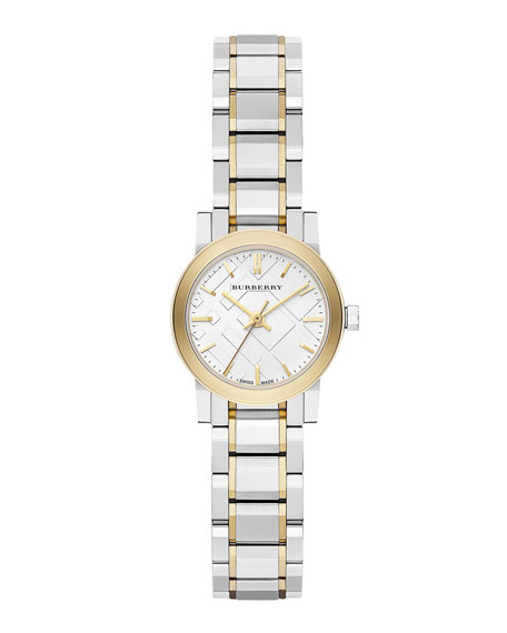 Burberry Round Yellow Golden Stainless Steel Watch, 26mm