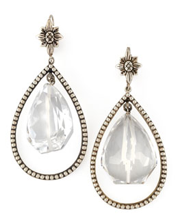 Stephen Dweck Nouveau Rock Crystal Drop Earrings