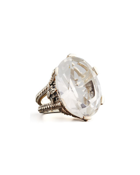 Oval Rock Crystal Ring
