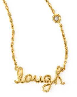 SHY by Sydney Evan Laugh Pendant Bezel Diamond Necklace