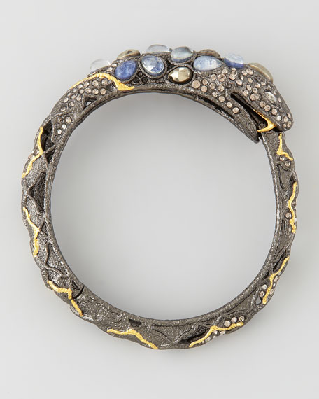 Pave Crystal Snake Bangle