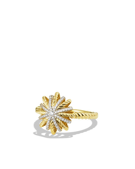Starburst Ring with Diamonds in Gold