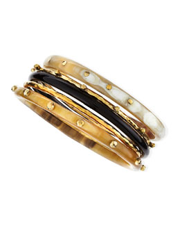 Ashley Pittman Exclusive JJW Bronze & Horn Bangle Set