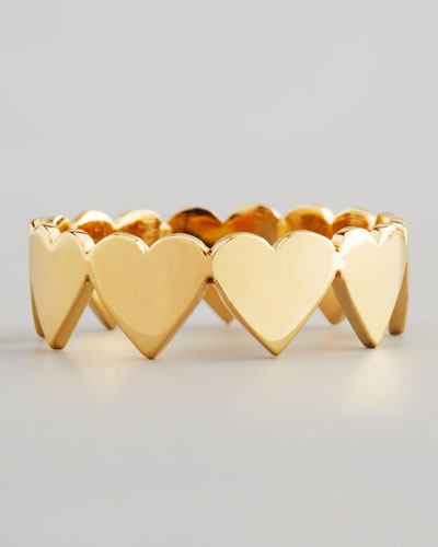 Golden Eternity Heart Ring