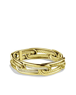 David Yurman Labyrinth Link Bracelet with Diamonds in Gold