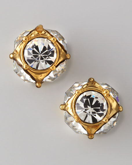 lady marmalade rhinestone ball stud earrings
