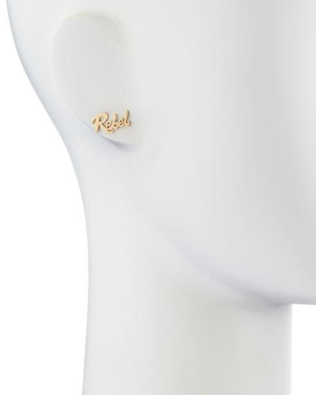 Rebel Mini 14k Gold Single Earring