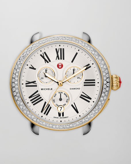 18mm Serein Diamond Two-Tone Watch Head