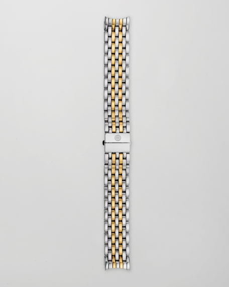 18mm Serein 7-Link Two-Tone Gold Bracelet Strap