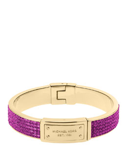 Michael Kors  Pave Plaque Bangle, Berry/Golden