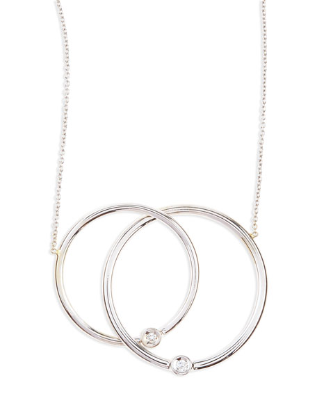 White Gold Diamond Large-Circle Necklace