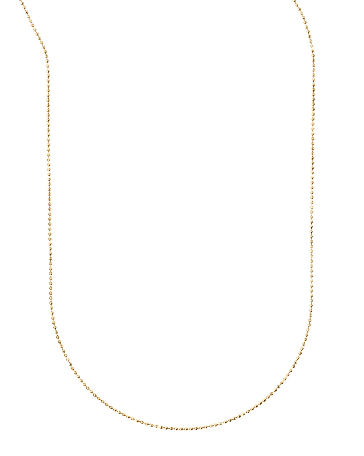 "Sarah Chloe Plated Ball Chain Necklace, 36""L"
