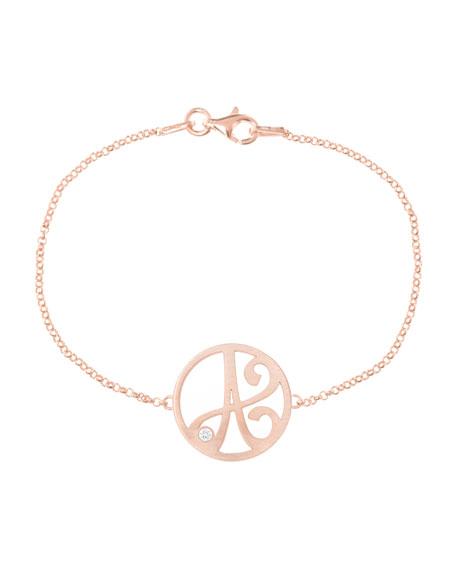 Mini Single Initial Diamond Bracelet