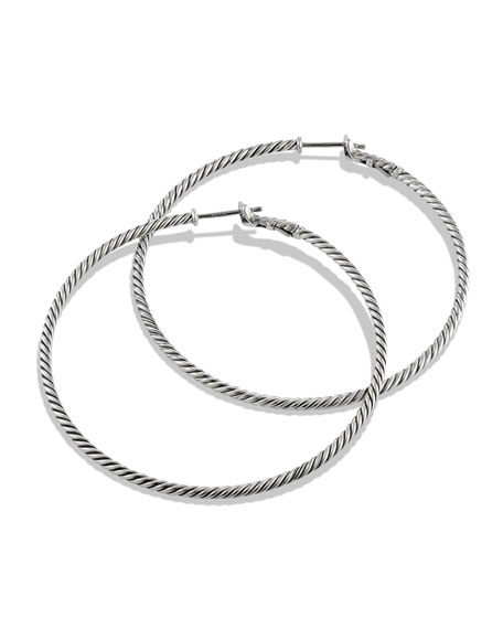 Image 2 of 2: Cable Classics Hoop Earrings