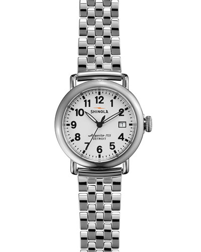 The Runwell Stainless Steel Watch with Bracelet Strap, 36mm