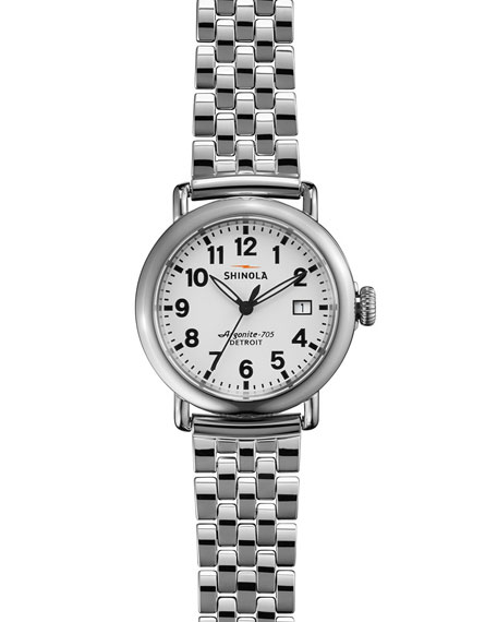 Shinola The Runwell Stainless Steel Watch with Bracelet