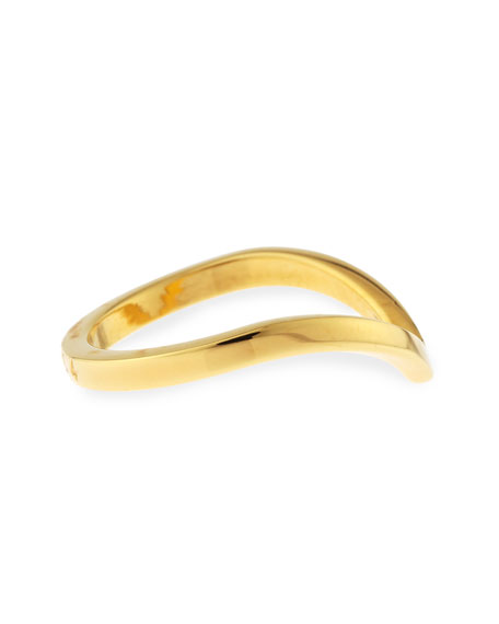 Ultra Mini V Ring, Yellow Golden