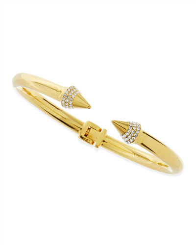 Titan Mini Crystal Bracelet, Yellow Gold