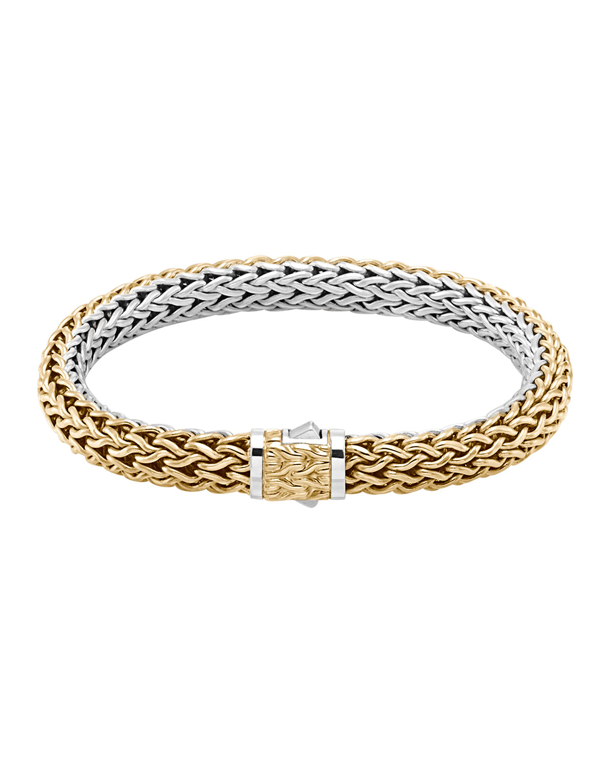 Clic Chain Medium Reversible Silver Gold Bracelet